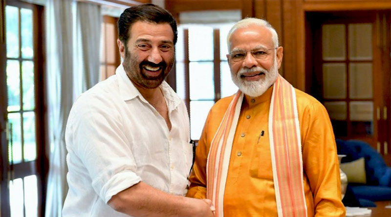 sunny deol with modi